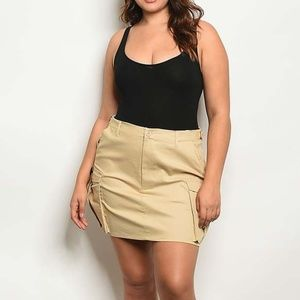 Dresses & Skirts - SOLID CARGO PLUS SKIRT
